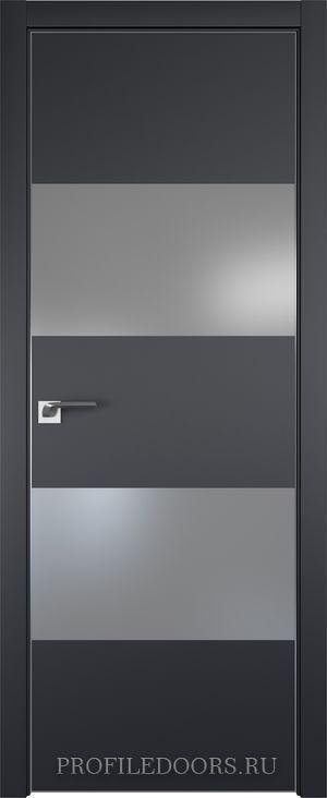 10E Черный матовый Lacobel Серебряный лак Матовая с 4-х сторон