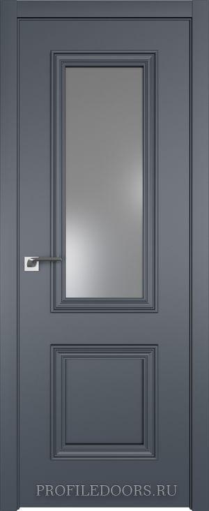 53E Антрацит Lacobel Серебряный лак в цвет двери ABS в цвет с 4-х сторон