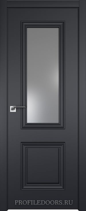 53E Черный матовый Lacobel Серебряный лак в цвет двери ABS в цвет с 4-х сторон