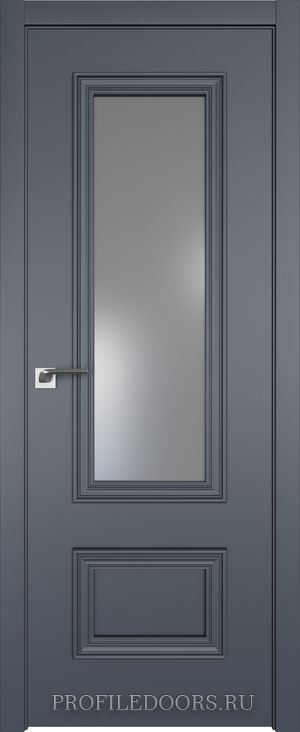 59E Антрацит Lacobel Серебряный лак в цвет двери ABS черная матовая с 4-х сторон