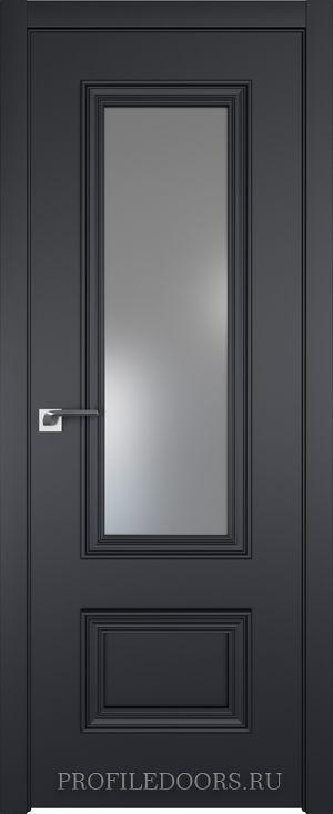 59E Черный матовый Lacobel Серебряный лак в цвет двери ABS черная матовая с 4-х сторон