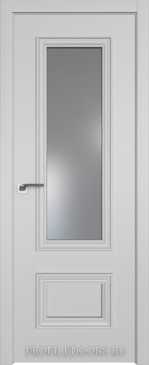 59E Манхэттен Lacobel Серебряный лак в цвет двери ABS черная матовая с 4-х сторон