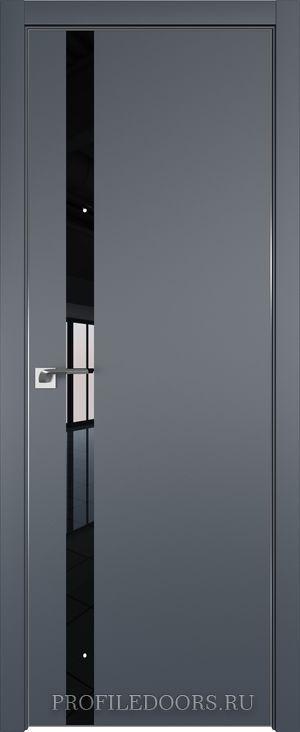 6E Антрацит Lacobel Черный лак ABS черная матовая с 4-х сторон