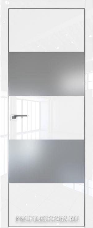 10LK Белый люкс Lacobel Серебряный лак Матовая с 4-х сторон