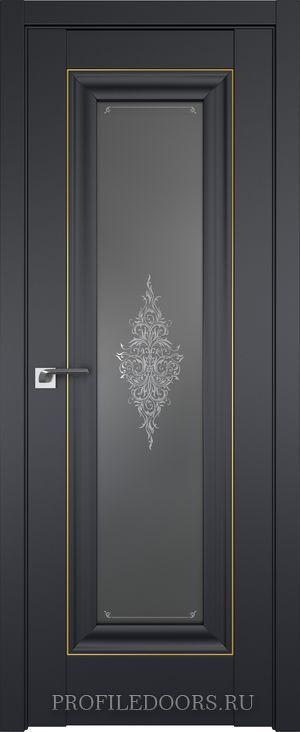 24U Черный матовый Кристалл графит Золото