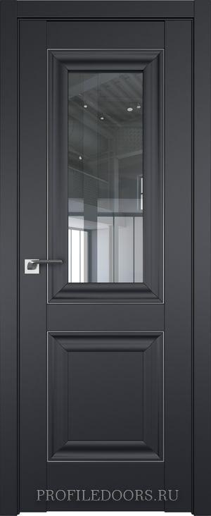 28U Черный матовый Прозрачное Серебро