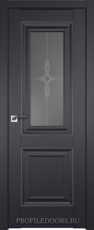 28U Черный матовый Узор графит Серебро