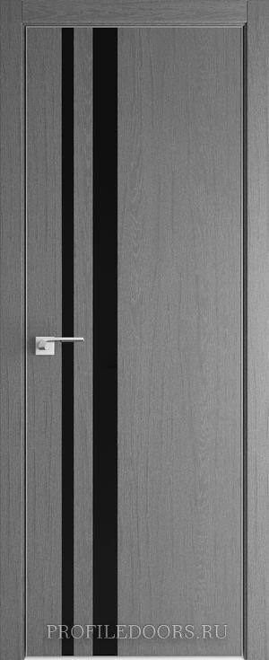 16ZN Грувд серый Lacobel Черный лак Матовая с 4-х сторон