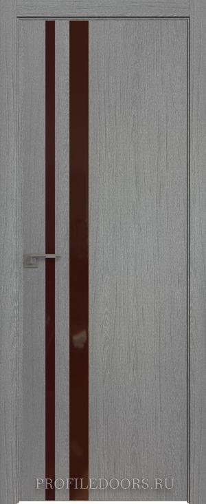 16ZN Грувд серый Lacobel Коричневый лак ABS в цвет с 4-х сторон