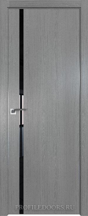 22ZN Грувд серый Lacobel Черный лак Матовая с 4-х сторон