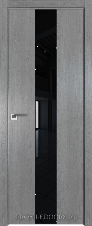 25ZN Грувд серый Lacobel Черный лак Матовая с 4-х сторон