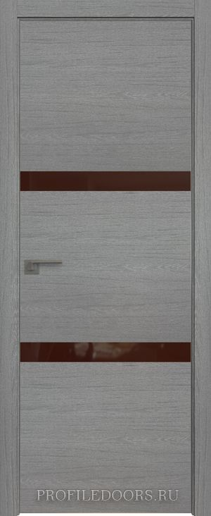 30ZN Грувд серый Lacobel Коричневый лак Матовая с 4-х сторон