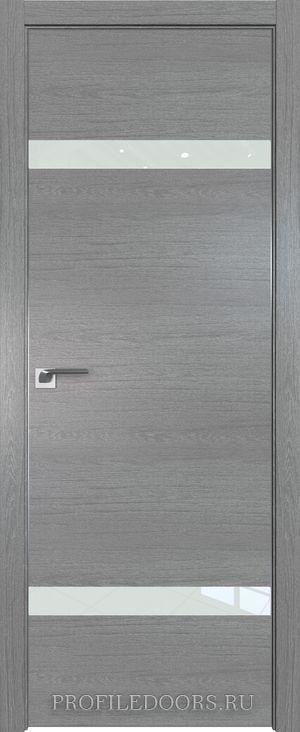 3ZN Грувд серый Lacobel Белый лак Матовая с 4-х сторон