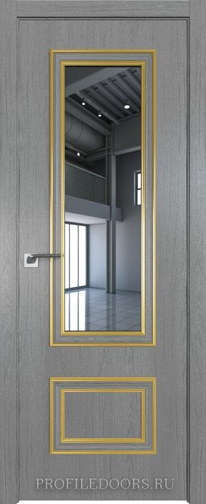 59ZN Грувд серый Зеркало Золото ABS в цвет с 4-х сторон