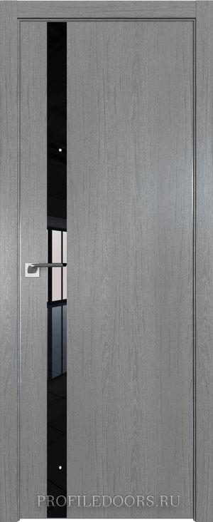 6ZN Грувд серый Lacobel Черный лак Матовая с 4-х сторон