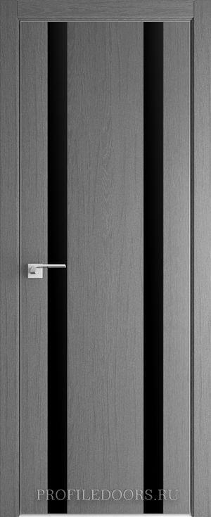 9ZN Грувд серый Lacobel Черный лак Матовая с 4-х сторон