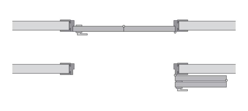Одностворчатая cистема Compack схема левая