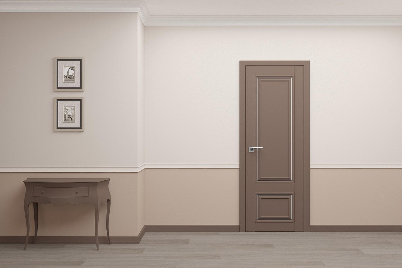 классическая межкомнатная дверь с молдингом