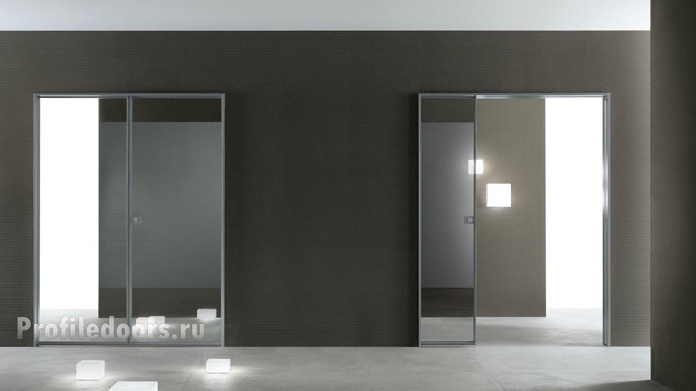 дверь Invisible с отражающей поверхностью
