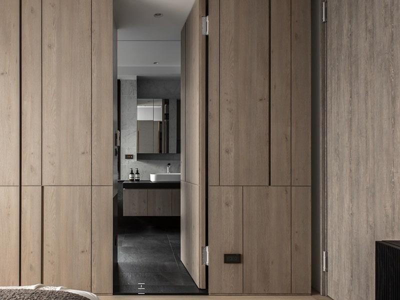 Минималистический стиль скрытых дверей в наше время