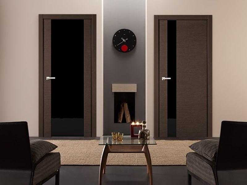 Двери межкомнатные со стеклом триплекс (triplex)