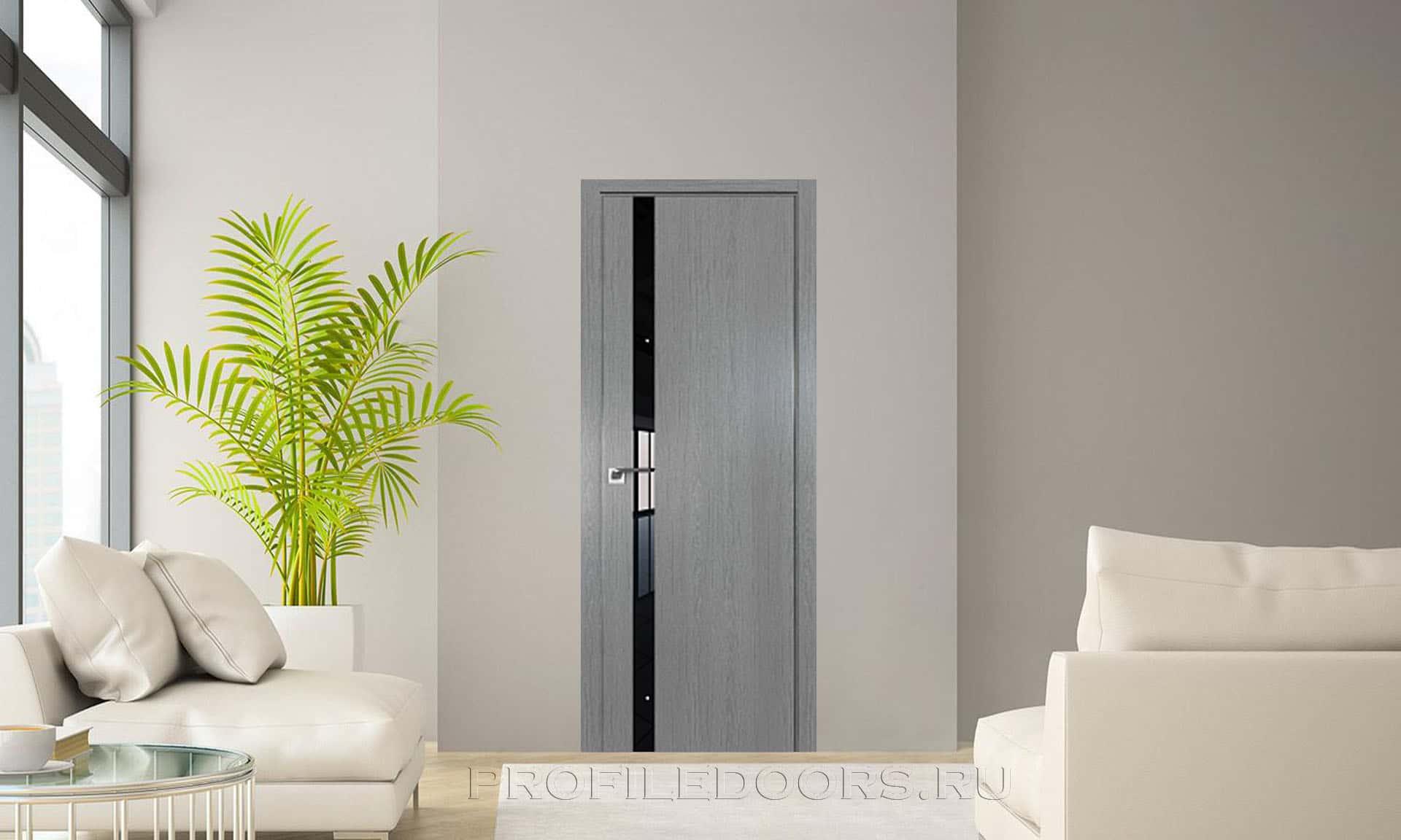 Дверь ZN Грувд серый