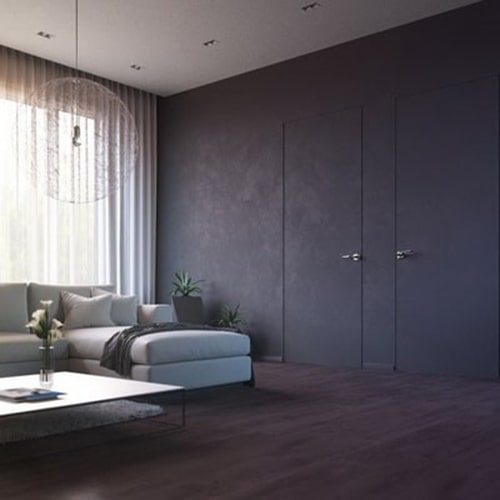 Скрытая дверь светлый дизайн
